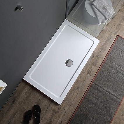 PIATTO DOCCIA ABS H 5CM SLIM FLAT BOX CABINA DOCCIA 70 80 90