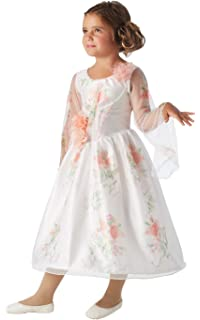 Belle Deluxe White Celebration Costume Dress For Kids Beauty And