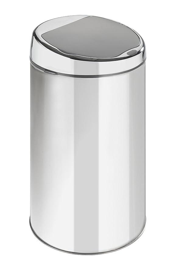 Wenko 15495100 Cubo de la basura con pedal acero inoxidable brillante 3 l, 17 x 25 cm