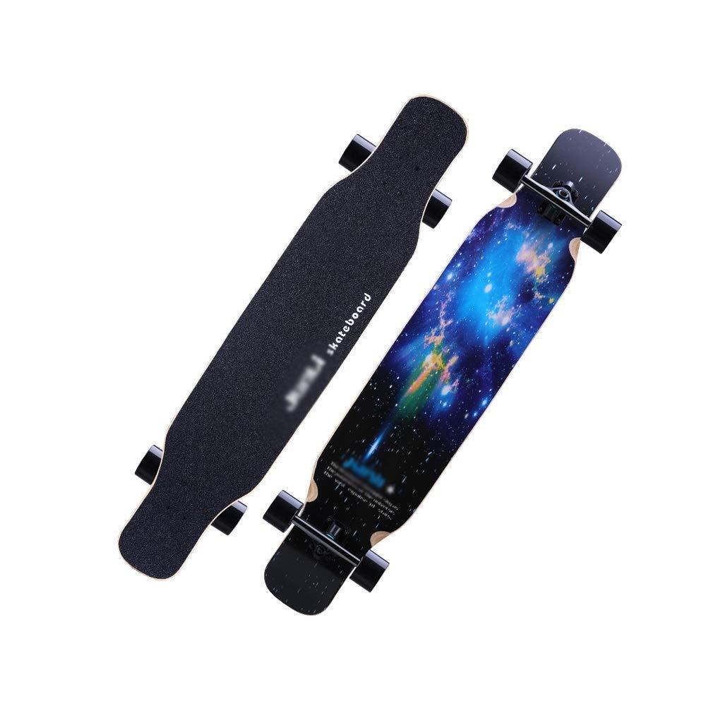 LIUFS-スケートボード ブラシストリートロングボードプロスケートボード大人クルーザースケートボード初心者片面119 cmプリント子供のギフト Single-sided printing