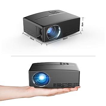CUHAWUDBA Gp80 Proyector 3D HD Home Theater Proyector PortáTil EU ...