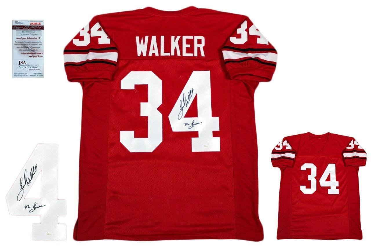 100% authentic 66512 2e03d Amazon.com: Herschel Walker Signed Jersey - Custom Witnessed ...