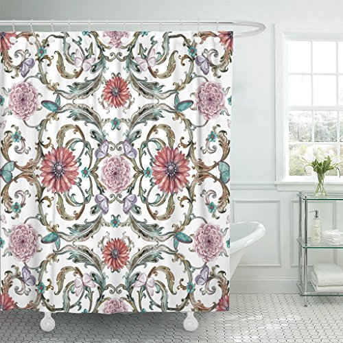 vintage pattern curtains - 9