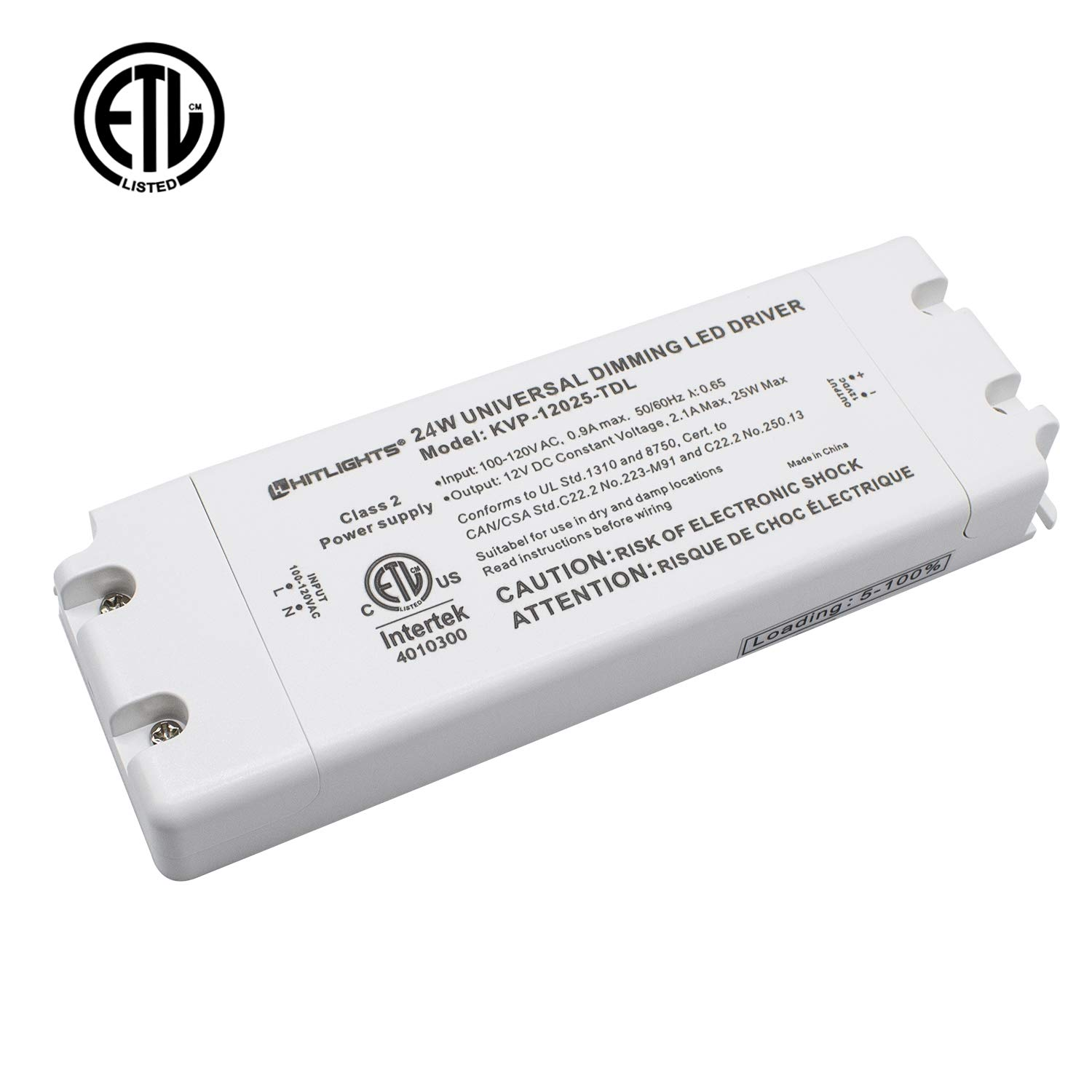 hitlights 24 watt dimmable driver electric led driver 110v ac 12v rh amazon com