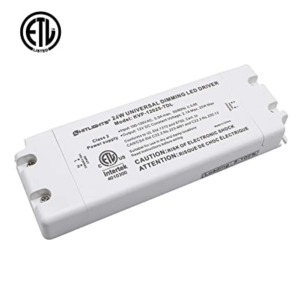 hitlights 24 watt dimmable driver, electric led driver - 110v ac-12v dc  transformer