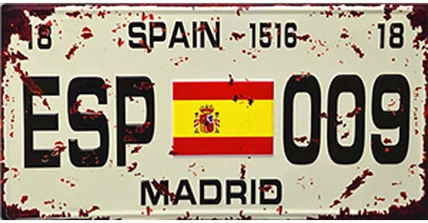 Easy Painter España Madrid – Letrero de Metal para Pared, diseño Vintage de Aluminio Retro de Metal, Pintura de Hierro, Carteles Decorativos Vintage de 30,5 x 15,2 cm: Amazon.es: Hogar
