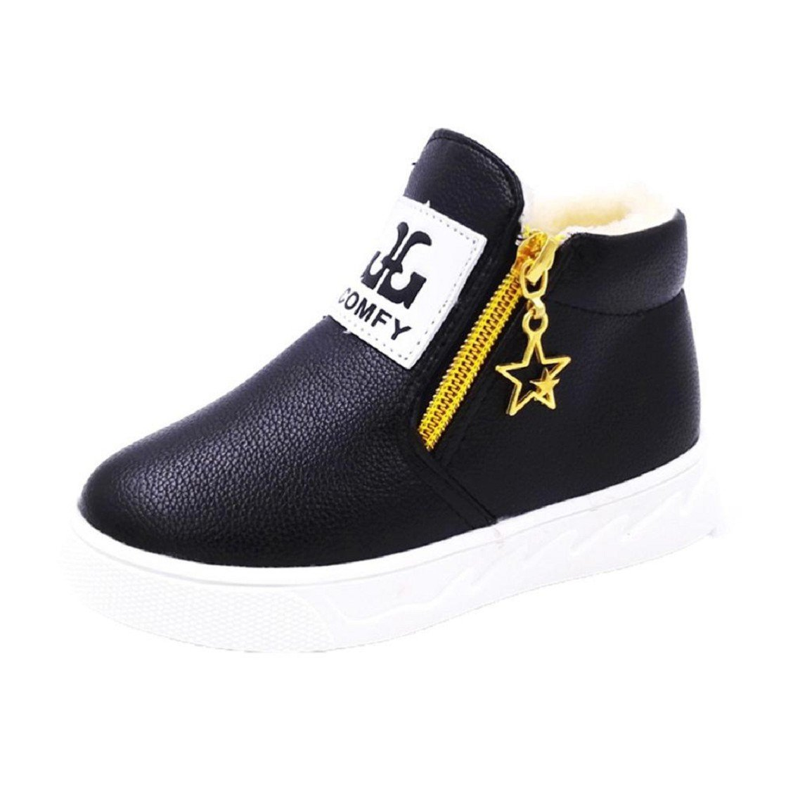 Naladoo Children Casual Sport Boy Girls Fashion Martin Boots Sneakers Autumn Shoes (5.5 Years Old, Black)