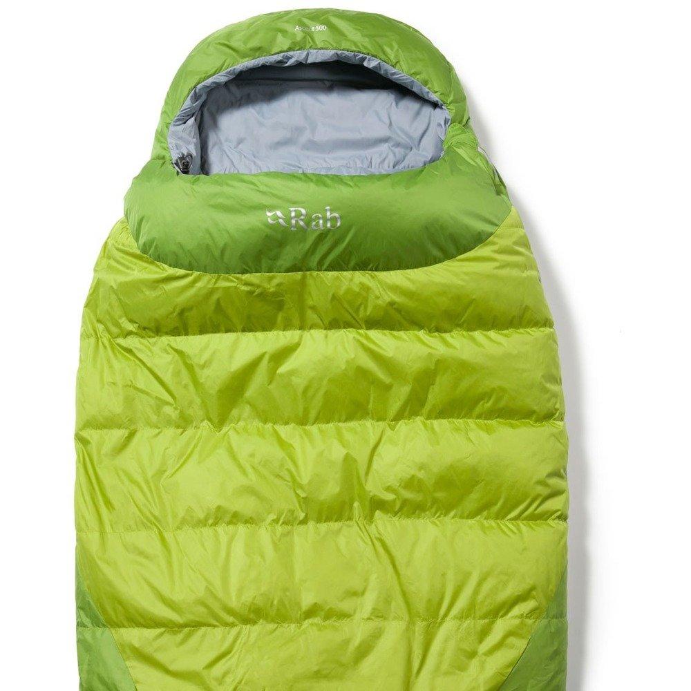 RAB Ascent 500 - Saco de Dormir (Cremallera a Izquierda) Amarillo Verde Talla:Cremallera Izquierda: Amazon.es: Deportes y aire libre