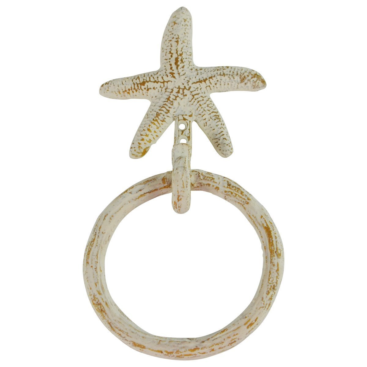 PKD Wall Mount Starfish Kitchen/Bath Towel Ring Holder Hanger Hook Nautical Decor