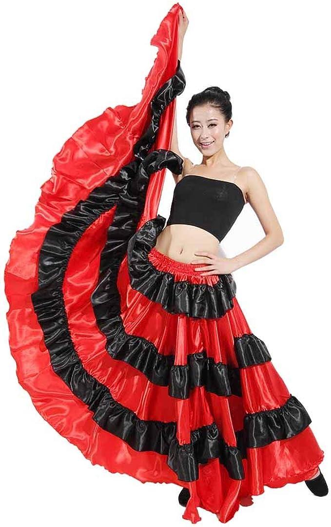 Dcola - Falda de bala española (90 cm), color rojo y negro 540 ...