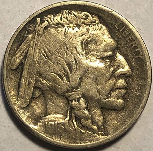 1913 P Buffalo Type I First Year of Buffalo Nickel Very Fine