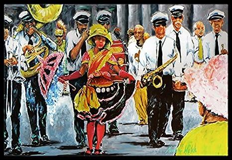 Carolines Treasures Mardi Gras Hey Mister Indoor or Outdoor Doormat Multicolor 18 x 27