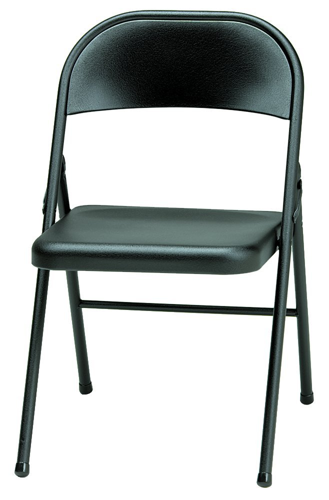 Amazon.com: Meco 4 Pack All Steel Folding Chair, Buff Frame: Kitchen U0026  Dining