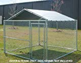King Canopy Dog House Kennel Cover - 10 by 10 -Feet Silver