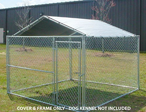 e Kennel Cover - 10 by 10 -Feet Silver (Kennel Top)