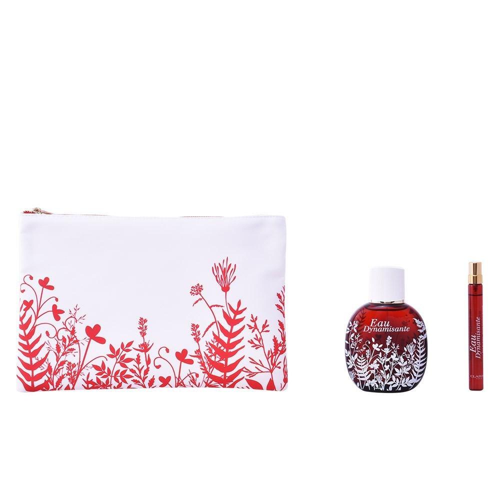 Clarins GIFT SET: Eau Dynamisante Treatment Fragrance Spray 100ml + Spray Refillable 10ml + Makeup Bag 3380810128970