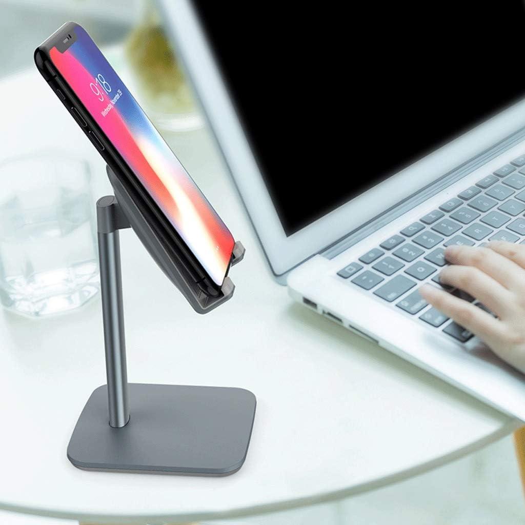 DESKTOP WGZ Phone Holder Universal Universal Holder Portable IPad Tablet Holder Color : Pink