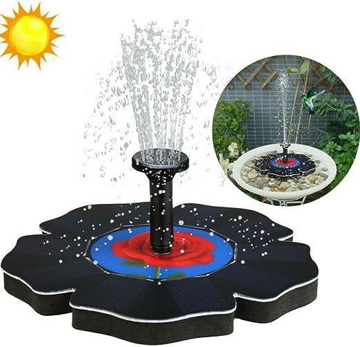 FlyCloud - Fuente Solar, Bomba Solar para Estanque con 1, 4 W, Bomba de Agua Solar para Exterior, Fuente para Estanque de jardín, baño de pájaros, contenedor de Pescado, Estanque pequeño: Amazon.es: Jardín
