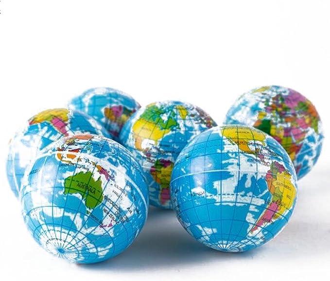 Weltkarte Schaum Gummiball für Baby Stress Bouncy Ball Geographie Spielzeug AB