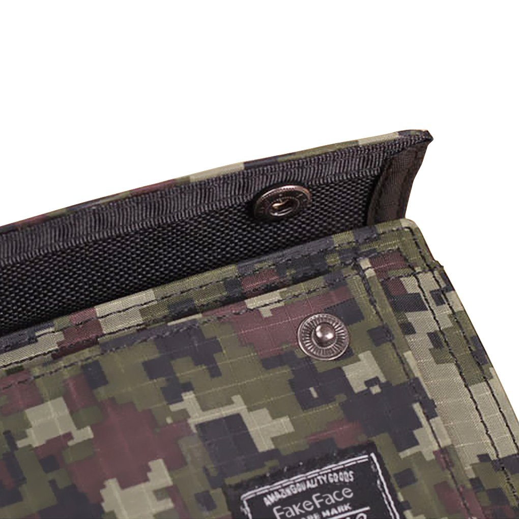 Fashion Men Casual Camo Bifold Wallet Money Clip Credit Card holder Coin Purse Wallet Clips for cards Money Business Card VIP Cards