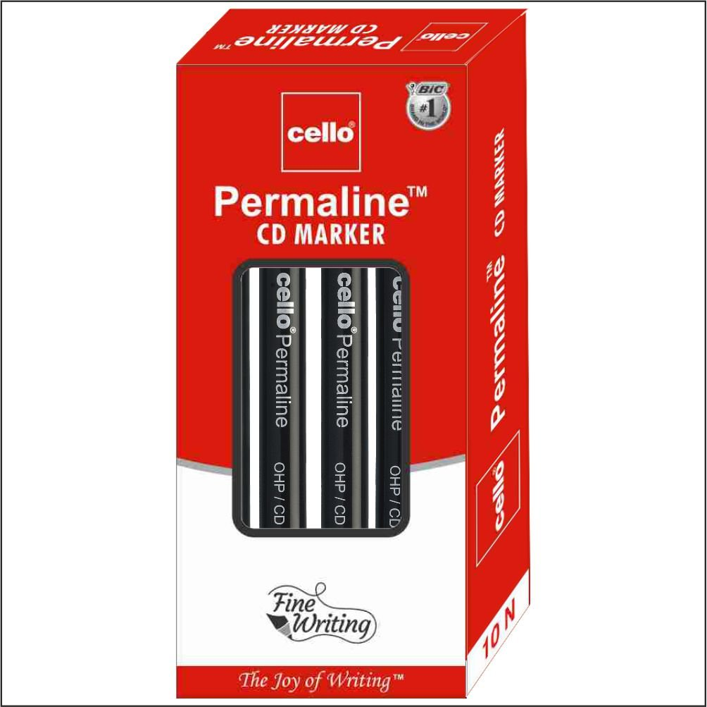Cello Permaline Permanent Marker - Pack of 100 (Black)