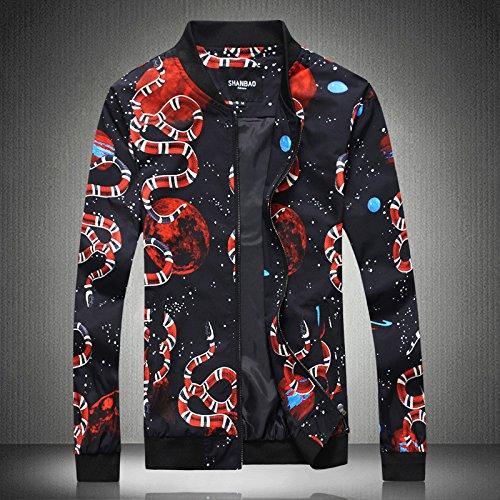 Los hombres chaquetas casual China sello de viento en un gran código hombres chaqueta de ocio la chaqueta versión coreana del black ,M
