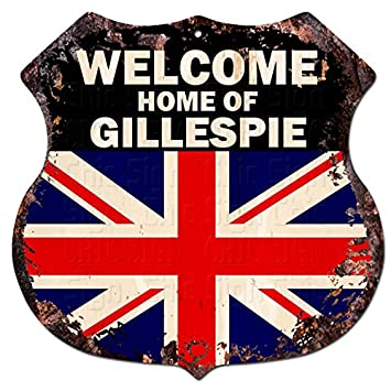 Amazon Com Welcome Home Of Gillespie United Kindom Flag Custom