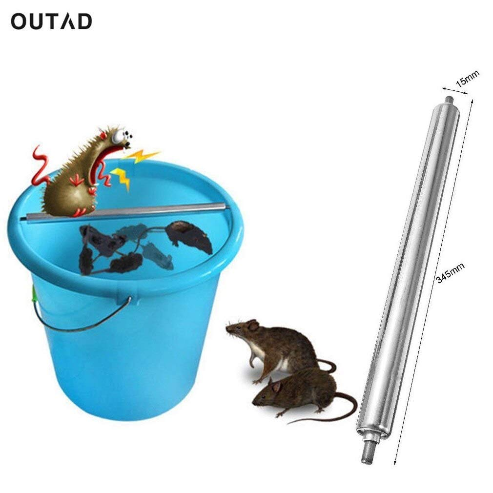 OUTAD Mouse Trap Log Roll Into Bucket Rolling Mice Rat Stick Rodent Spin Trap