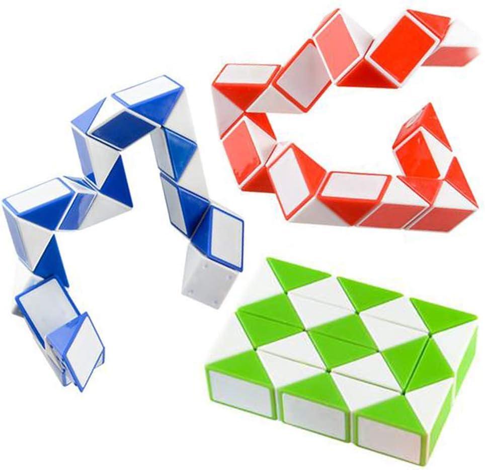 Sensory Fidget Snake Cube Twist Puzzle Set of 3