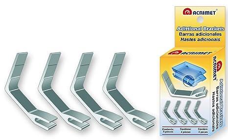Acrimet Soportes Adicionales de Metal de Apoyo Para Bandejas Portadocumentos Facility (4 Piezas)