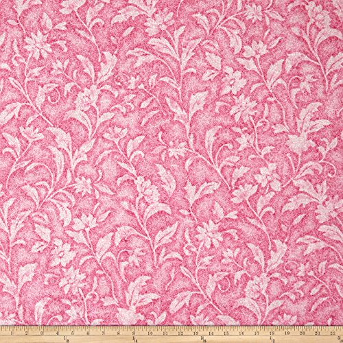 Santee Print Works Vintage Tapestry Floral Pink Fabric by The Yard