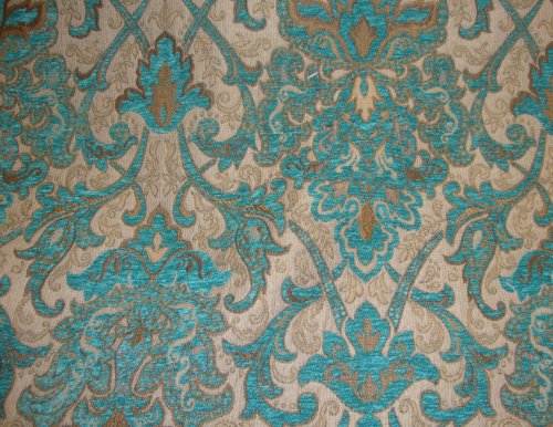 Marina Damask Chenille Upholstery Drapery Fabric by The Yard 57