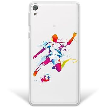 WoowCase Funda Sony Xperia E5, [Hybrid] Jugador de Fútbol ...