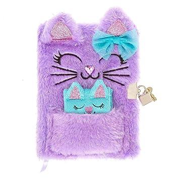Amazon.com: Claires Girls Glitter - Agenda de felpa con ...