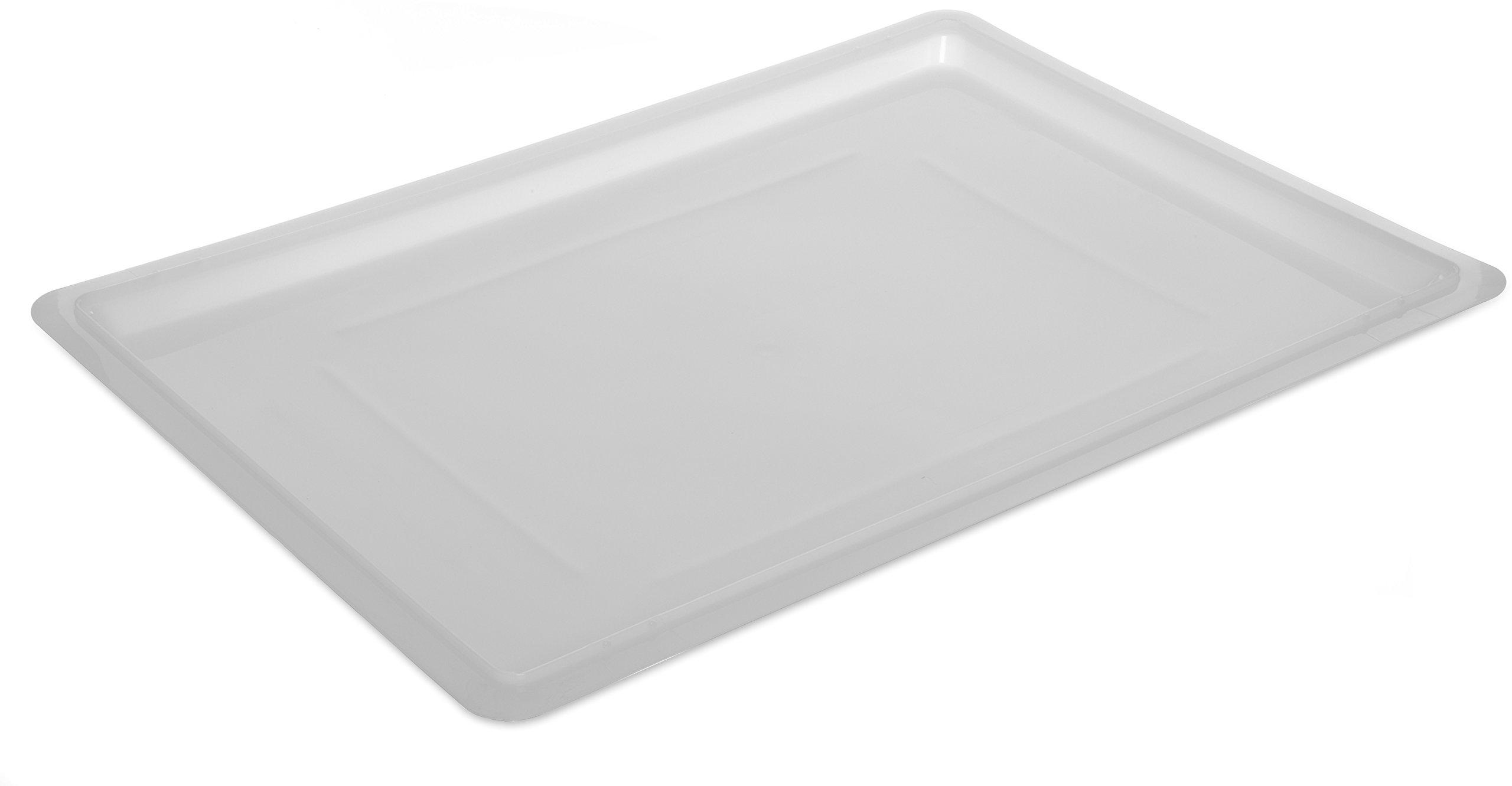 Carlisle 1064702 StorPlus Polyethylene ''Lock-Tight'' Lid, 26 x 18 x 1.28'', White (Case of 6) by Carlisle