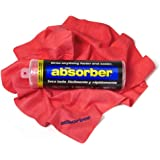 "CleanTools 41149 The Absorber Synthetic Drying Chamois, 27"" x 17"", Red"