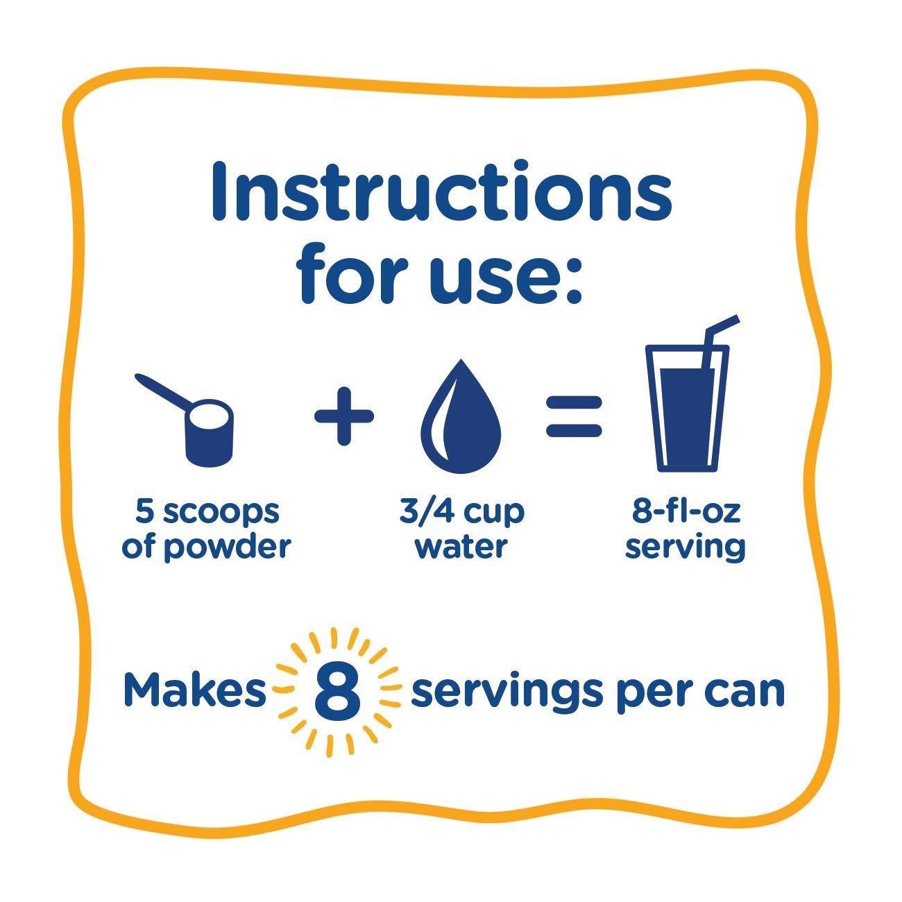 PediaSure Grow & Gain Non-GMO Vanilla Shake Mix Powder, Nutrition Shake for Kids, 14.1 oz, 3 Count by Pediasure (Image #8)