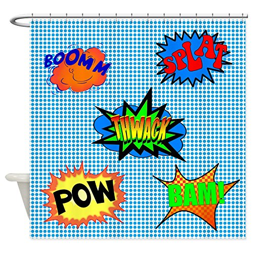 POW! Superhero Shower Curtain