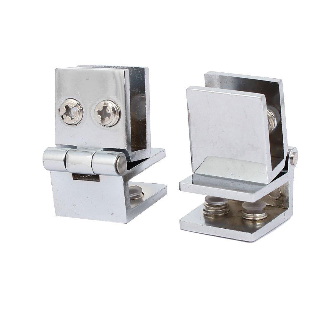 sourcingmap® Alliage de zinc 90 Degré Verre sur verre Verre charnière porte à porte-clips de fermeture 2pcs sourcing map a16120100ux0361