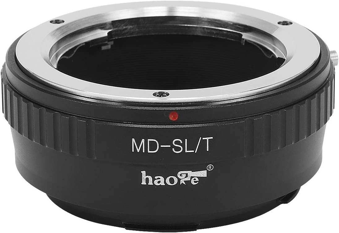 Typ601 SL Typ 601 TL2 Panasonic S1 // S1R Typ701 Typ 701 Haoge Manual Lens Mount Adapter for Minolta MD Lens to Leica L Mount Camera Such as T 2017 TL CL