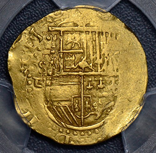 - 1556 ES PC0182 Spain 4 Escudos ~98 PCGS AU55 spain Seville woman silver DE PO-01 PCGS