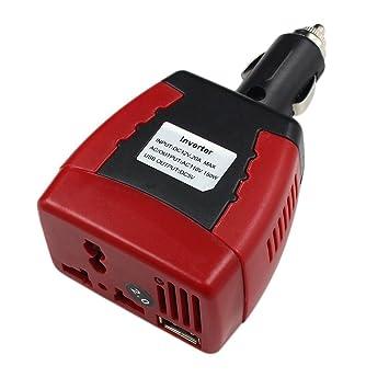 HappyCow Cargador de Coche para Ordenador Portátil (12 V CC a 220 V CA, USB 5 V, 150 W): Amazon.es: Coche y moto
