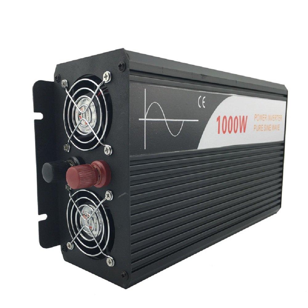 Xijia 1000W (Peak 2000W) Pure Sine Wave power Inverter DC 12V 24V 48V to AC 120V 60HZ Solar converter For Home Use car (DC 48V to AC 120V)