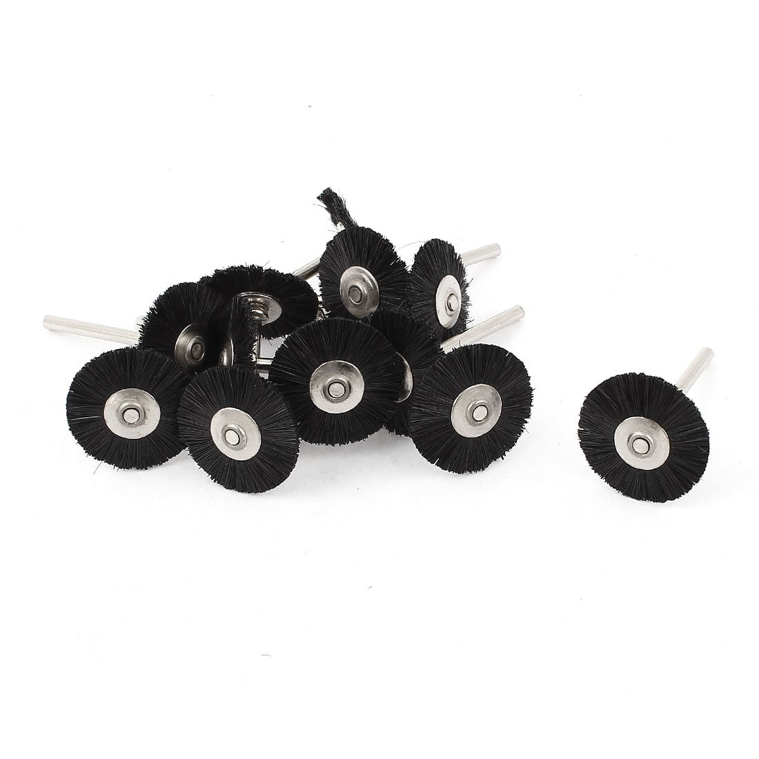 12x 1/8inch Shank 25mm Wheel Nylon Bristle Brush for Dremel Tool Sourcingmap a14090200ux0684