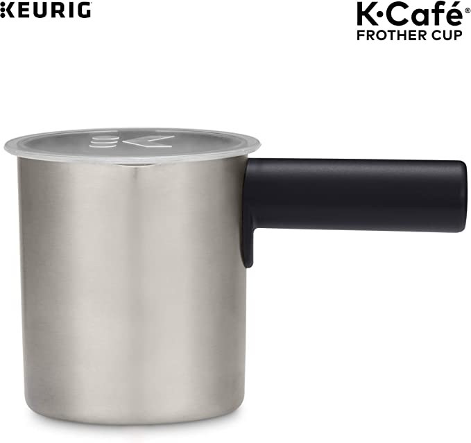 Keurig K-Cafe Milk Frother, Works with all Dairy and Non-Dairy Milk, Hot and Cold Frothing, Compatible with Keurig K-Café Coffee Makers Only, Dark ...