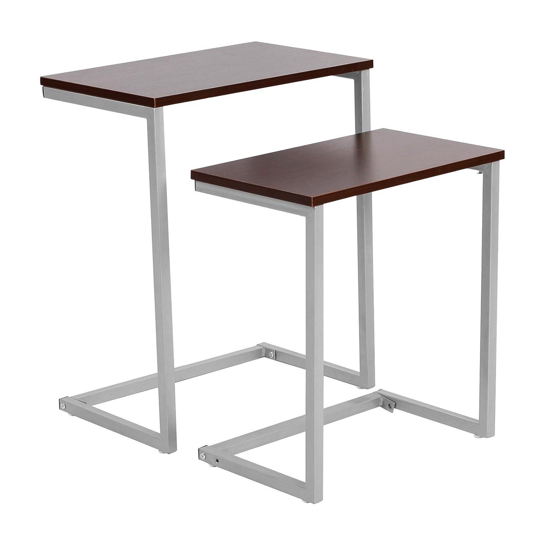 WOLTU TSG15dc Tavolino da Salotto Moderno Tavolo da Caffè Piano D'appoggio Scaffale per Camera Cucina Ufficio in Legno Metallo
