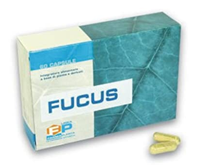 Concentrado puro de Fucus Quemador de grasa adelgazante que drena 60 cápsulas 100% vegetal Basado en yodo asimilable, útil como iniciador en dietas ...