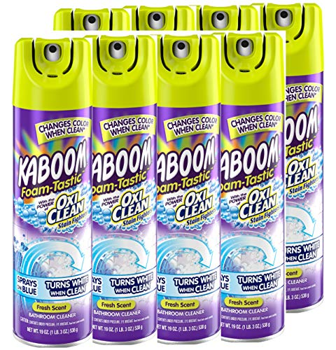 Kaboom Foam-Tastic with Oxiclean Fresh, 19 Ounce (Pack of 8)