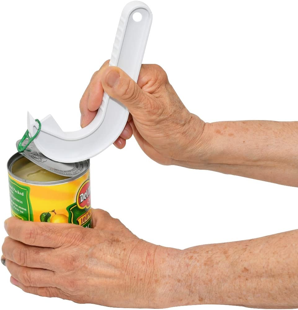 Home-X Ergonomic Ring-Pull Helper, Perfect for Opening Ring-Pull Cans, White ()