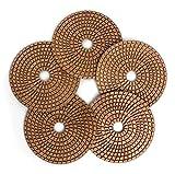 5'' Diamond Polishing Pads 1000 Grits for Granite Marble Ceramic Tile Polish (5Pcs/Set)